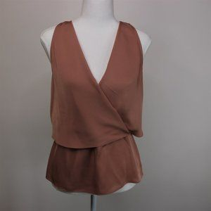 Theory Sleeveless Wrap Silk Top